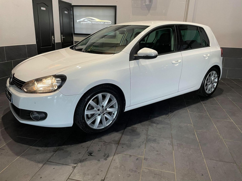 Volkswagen GOLF VI 1.4 TSI 160CH CARAT DSG7 5P Essence BLANC Occasion à vendre