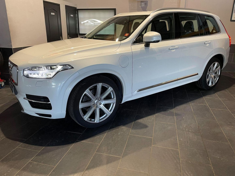 Volvo XC90 T8 TWIN ENGINE 303 + 87CH INSCRIPTION LUXE GEARTRONIC 7 PLACES Hybride BLANC Occasion à vendre