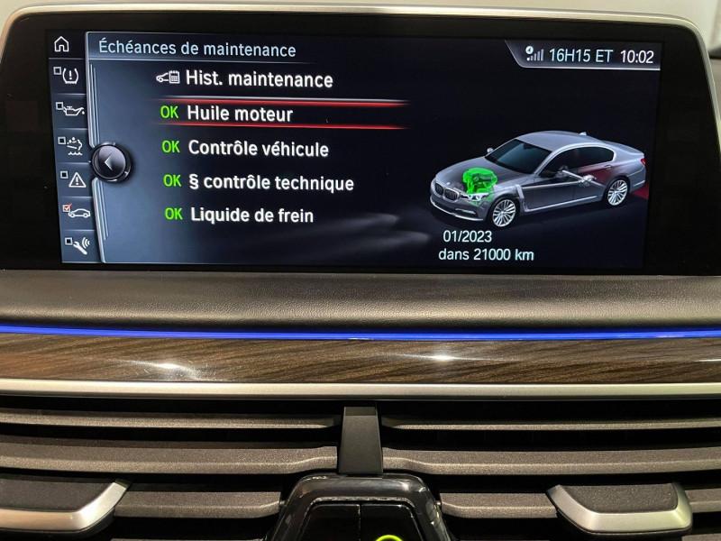 Photo 10 de l'offre de BMW SERIE 7 (G11/G12) 740DA XDRIVE 320CH EXCLUSIVE à 42990€ chez Signature auto