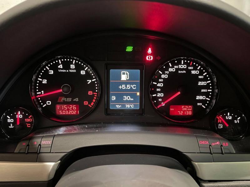 Photo 11 de l'offre de AUDI RS4 4.2 V8 420CH QUATTRO à 36990€ chez Signature auto