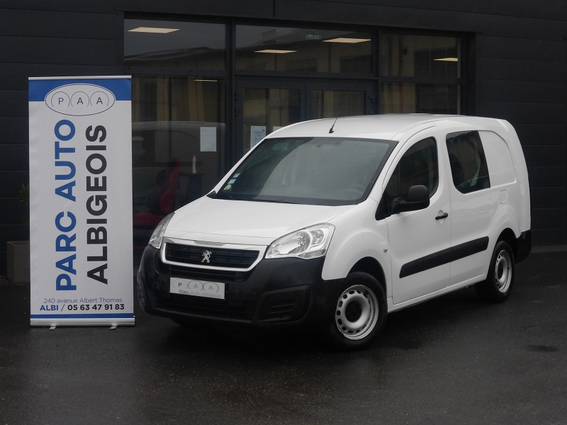 Peugeot PARTNER 121 L2 1.6 HDI 90 CABINE APPROFONDIE CONFORT Diesel BLANC Occasion à vendre