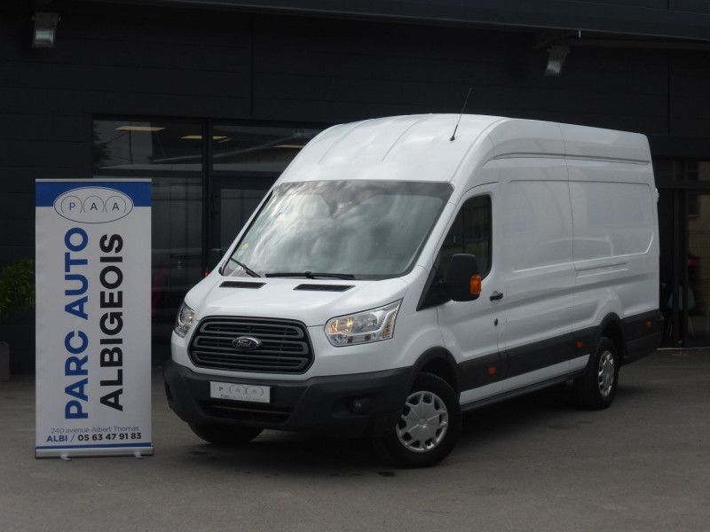 Ford TRANSIT 2T FG P350 L4H3 2.0 ECOBLUE 130CH S&S AMBIENTE Diesel BLANC Occasion à vendre