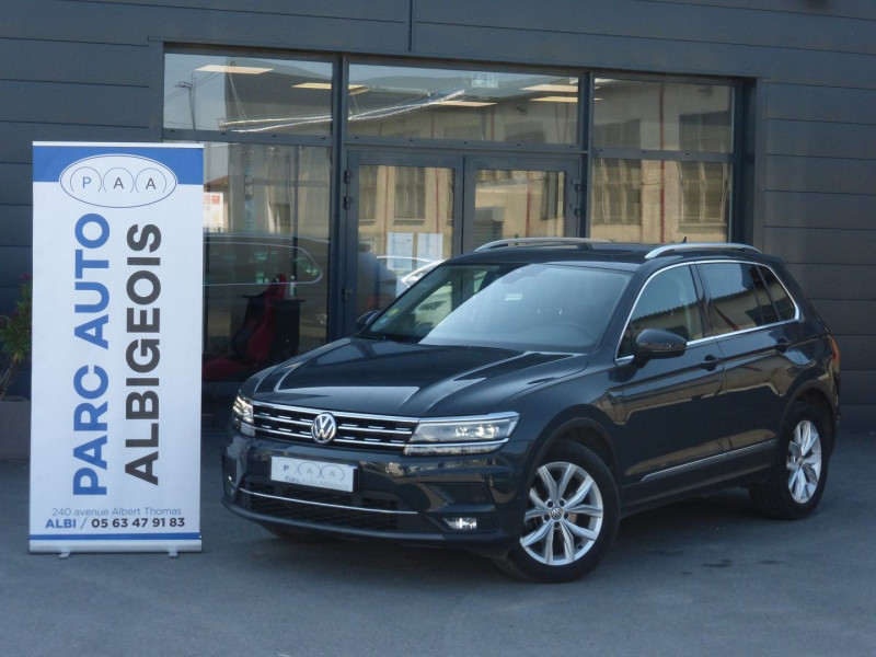 Volkswagen TIGUAN 2.0 TDI 150CH CARAT DSG7 Diesel GRIS F Occasion à vendre