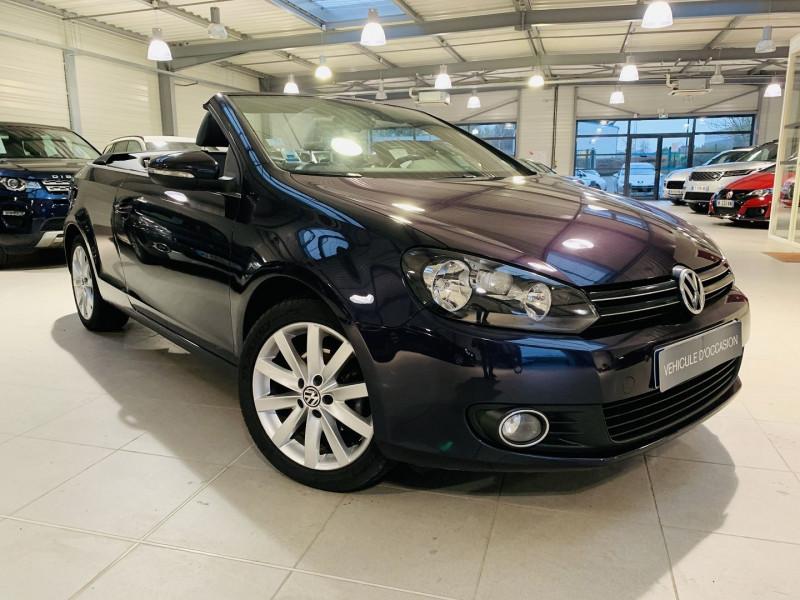 Volkswagen GOLF VI CABRIOLET 1.6 TDI 105CH FAP CARAT Diesel VIOLET Occasion à vendre