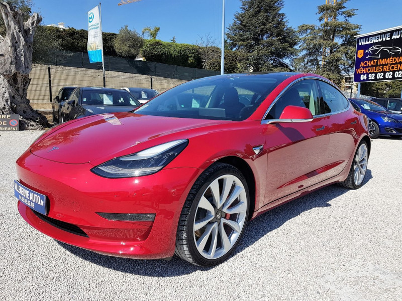 Tesla MODEL 3 PERFORMANCE DUAL MOTOR AWD FSD Electrique ROUGE Occasion à vendre