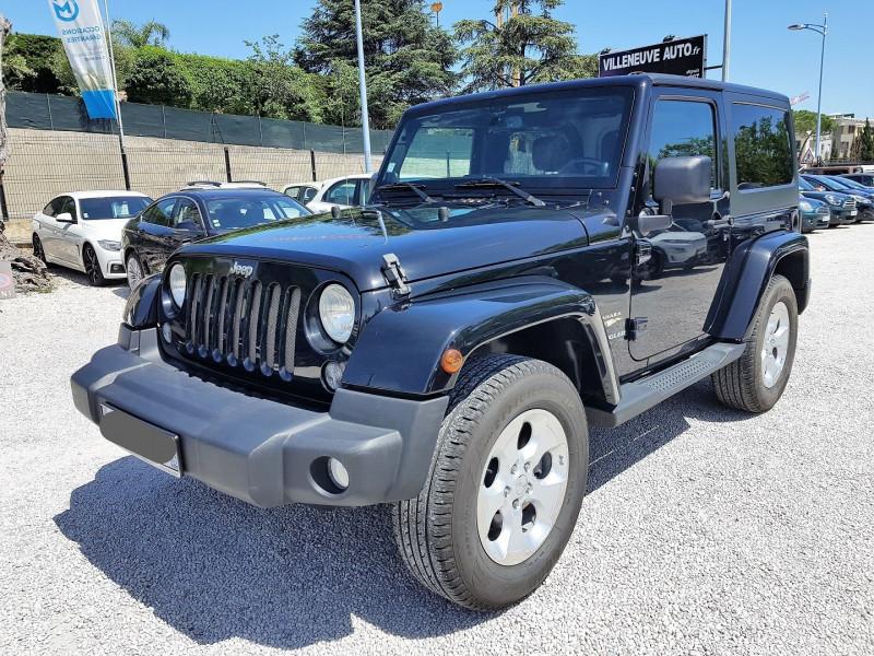 Jeep WRANGLER 2.8 CRD 200 FAP SAHARA BVA Diesel NOIR Occasion à vendre