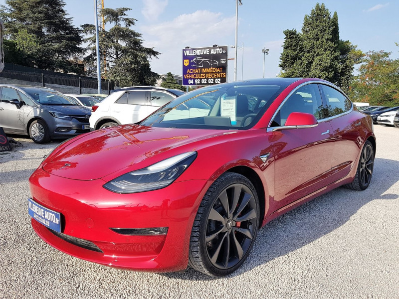 Tesla MODEL 3 PERFORMANCE DUAL MOTOR AWD +FSD Electrique ROUGE Occasion à vendre
