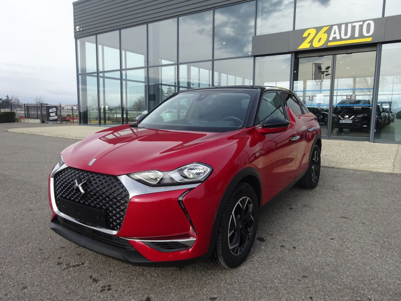 Ds DS 3 CROSSBACK PURETECH 130CH SO CHIC AUTOMATIQUE Essence ROUGE NOIR Occasion à vendre