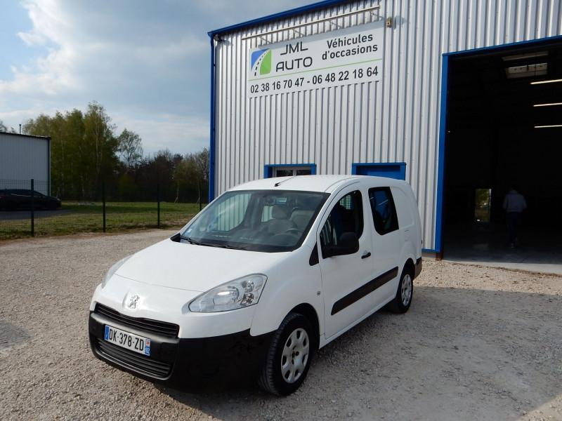 Peugeot PARTNER 5PLACES 1.6 HDI90 L2 CABINE APPROFONDIE CONFORT Diesel BLANC Occasion à vendre