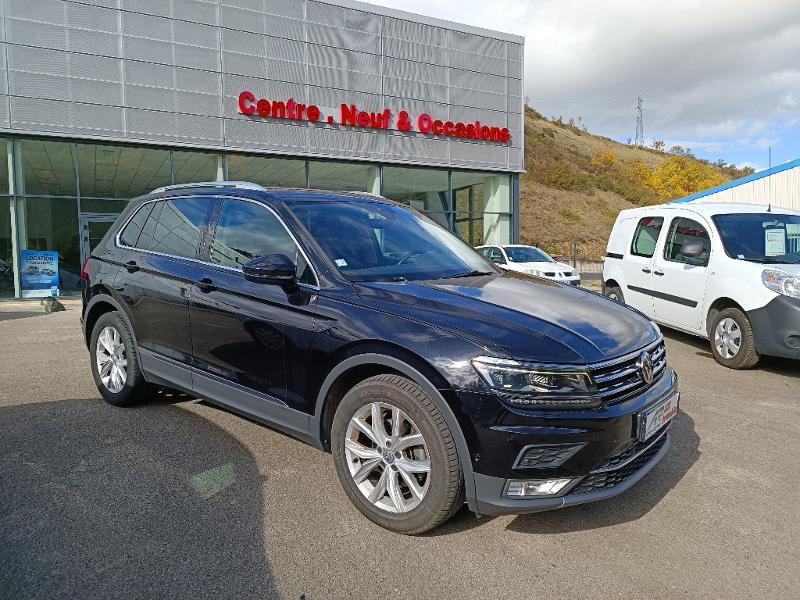 Volkswagen Tiguan 2.0 TDI 150ch BlueMotion Technology Carat DSG7 Diesel Noir Métal Occasion à vendre