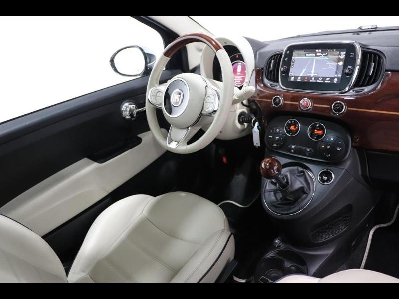 Photo 2 de l'offre de FIAT 500 1.3 Multijet 16v 95ch DPF S&S Riva (volant bois) à 15990€ chez Autovia Véhicules Multimarques