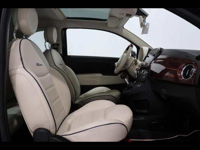 Photo 9 de l'offre de FIAT 500 1.3 Multijet 16v 95ch DPF S&S Riva (volant bois) à 15990€ chez Autovia Véhicules Multimarques