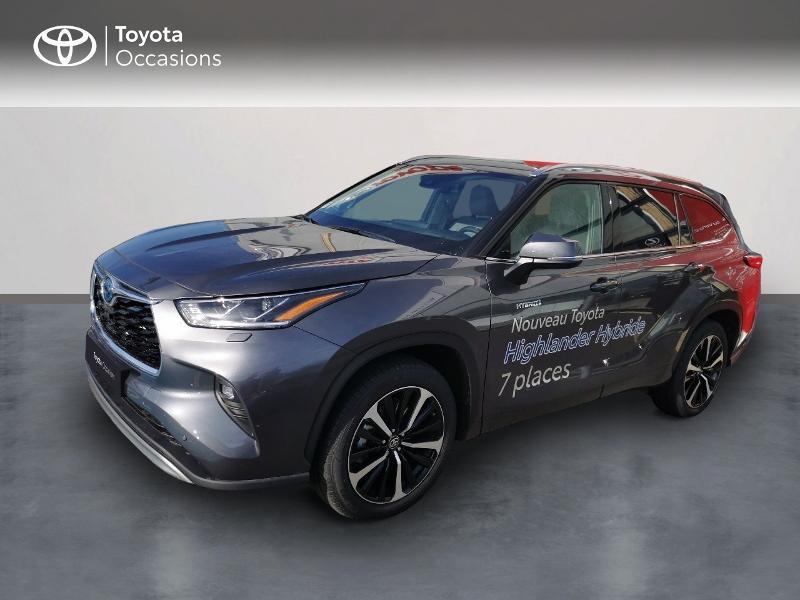 Toyota Highlander Hybrid 248ch Lounge AWD-I Hybride GRIS Occasion à vendre