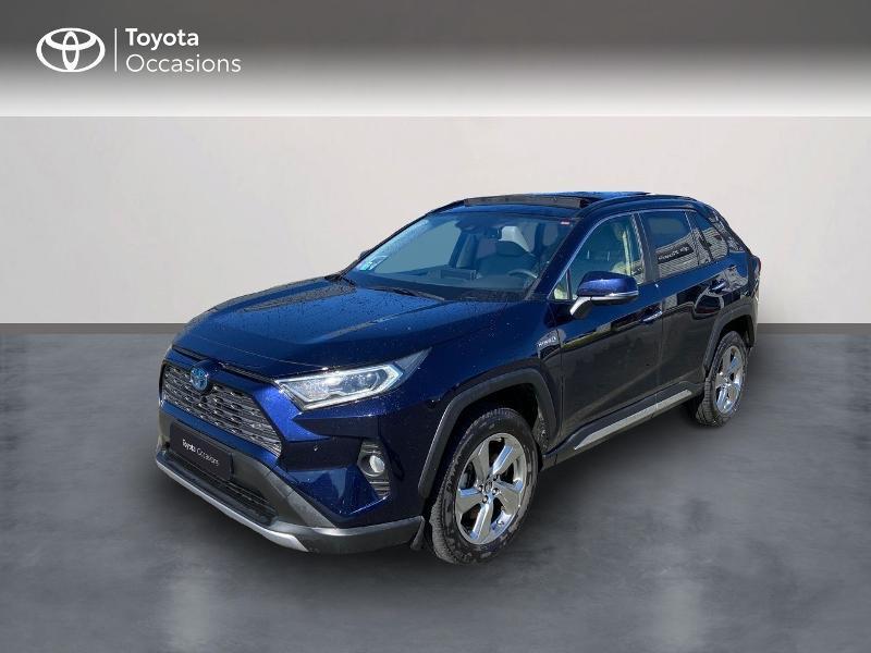 Toyota RAV4 Hybride 218ch Lounge 2WD Hybride bleu Occasion à vendre