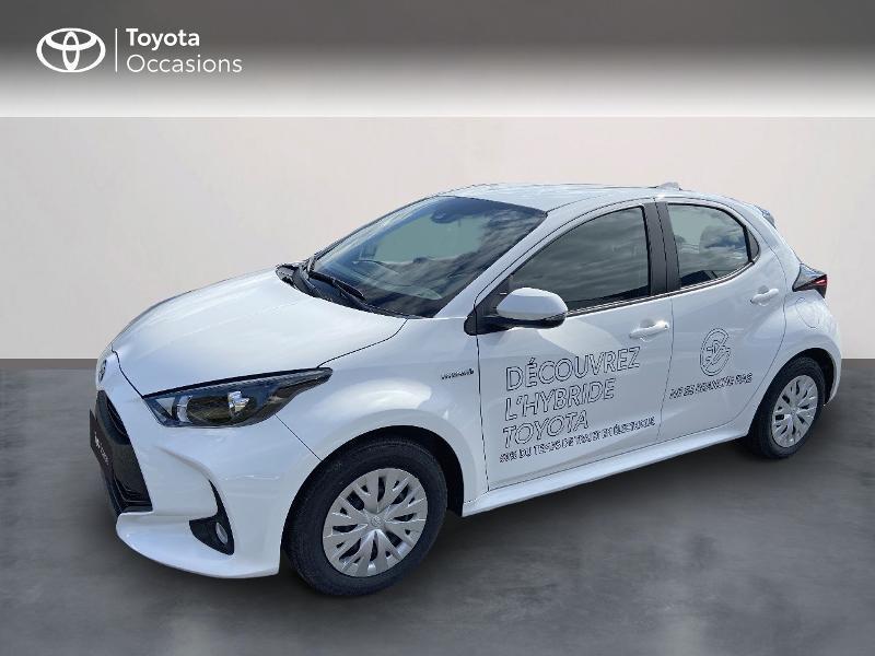 Toyota Yaris 116h Dynamic Business 5p + Stage Hybrid Academy MY21 Hybride Blanc Occasion à vendre