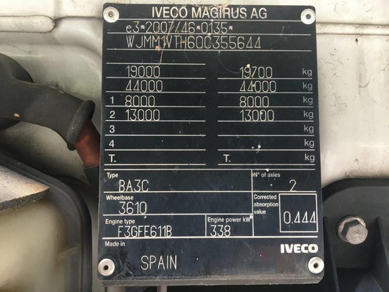 Photo 25 de l'offre de IVECO Stralis 460cv BAV CLIM RALENTISSEUR HYDRAULIQUE à 839€ chez ABVI Montpellier