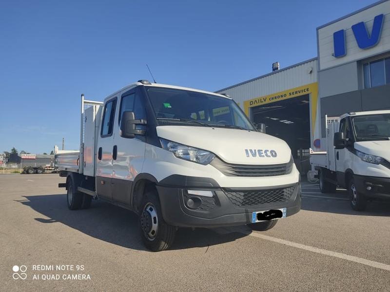 Iveco 35c14 DOUBLE CAB 6PL BENNE 2.9 + COFFRE BLUETOOTH CLIM Diesel Blanc Métal Occasion à vendre