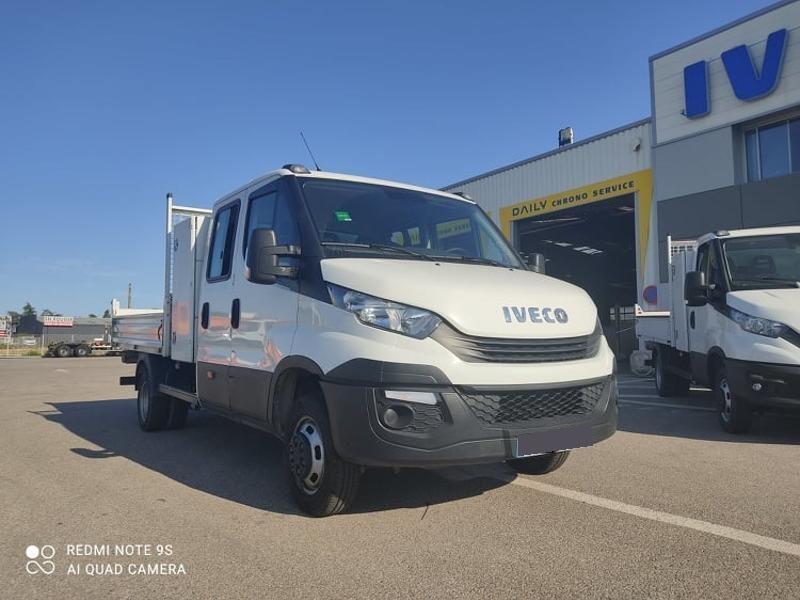 Iveco 35c14 DOUBLE CAB 6PL BENNE 2.9 + COFFRE BLUETOOTH CLIM AUTO Diesel Blanc Métal Occasion à vendre
