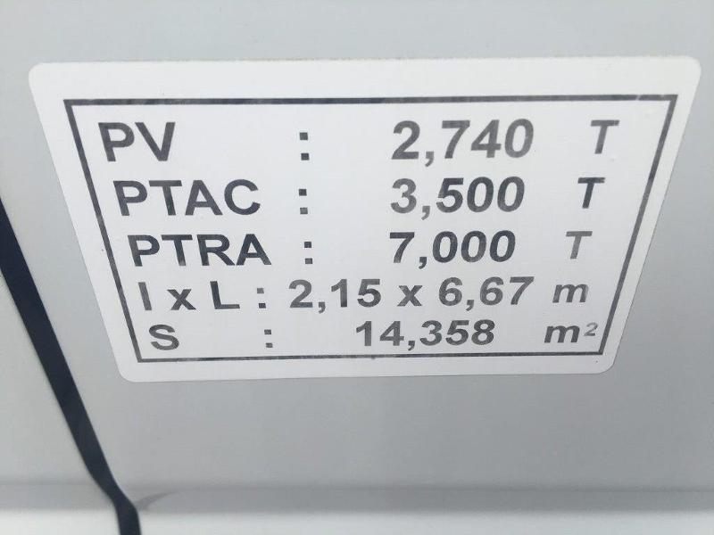 Photo 13 de l'offre de IVECO 35c16 CAISSE 20M3 PLUS CAPUCINE CLIM AUTO à 30000€ chez ABVI Béziers