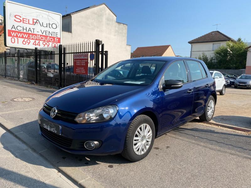 Volkswagen GOLF VI 1.6 TDI 105CH BLUEMOTION FAP TRENDLINE DSG7 5P Diesel BLEU F Occasion à vendre