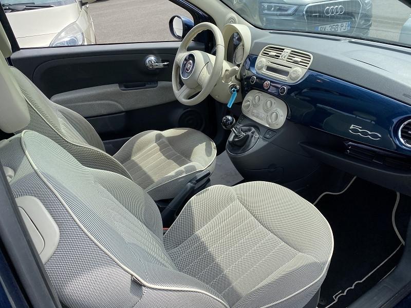 Photo 3 de l'offre de FIAT 500 1.3 MULTIJET 16V 95CH DPF S&S LOUNGE à 6490€ chez Help car