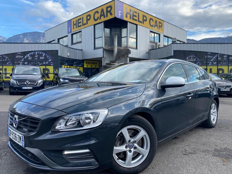 Volvo V60 D4 AWD 181CH R-DESIGN GEARTRONIC Diesel GRIS F Occasion à vendre