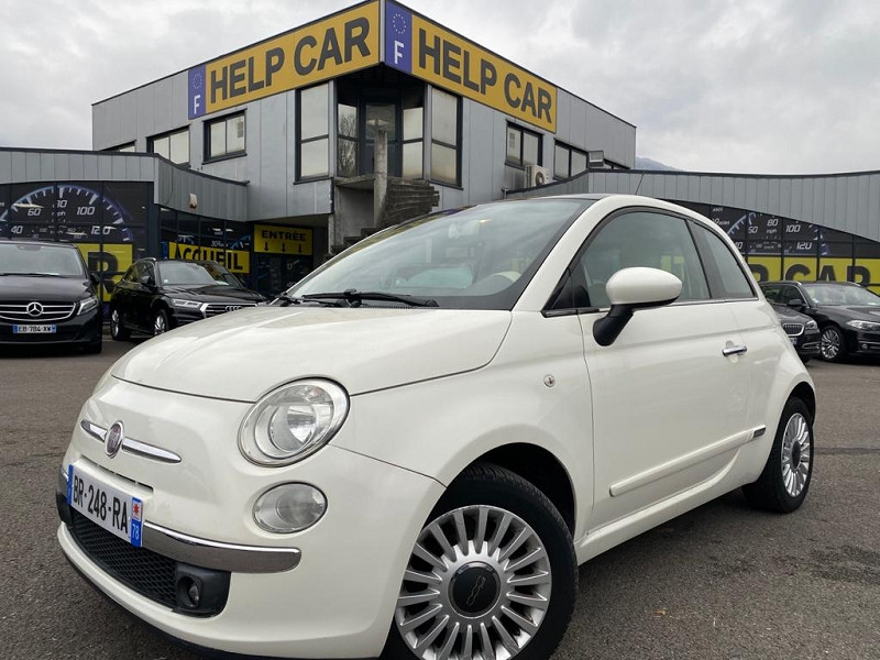 Fiat 500 1.2 8V 69CH S&S LOUNGE Essence BLANC Occasion à vendre