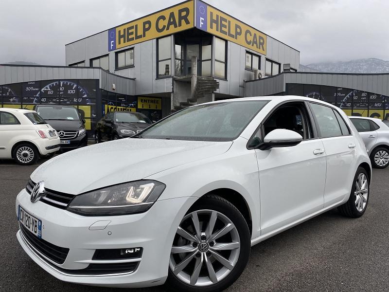 Volkswagen GOLF VII 1.6 TDI 105CH BLUEMOTION TECHNOLOGY FAP CARAT 5P Diesel BLANC Occasion à vendre