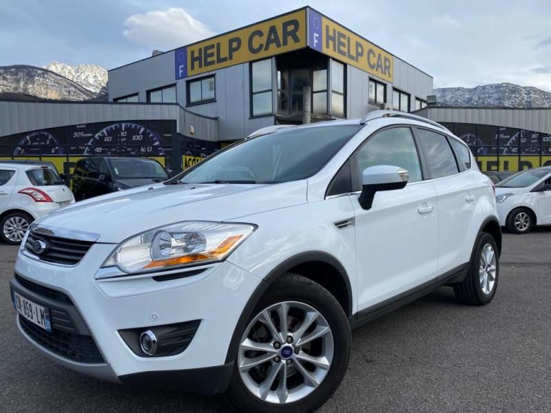 Ford KUGA 2.0 TDCI 140CH FAP TITANIUM Diesel BLANC Occasion à vendre