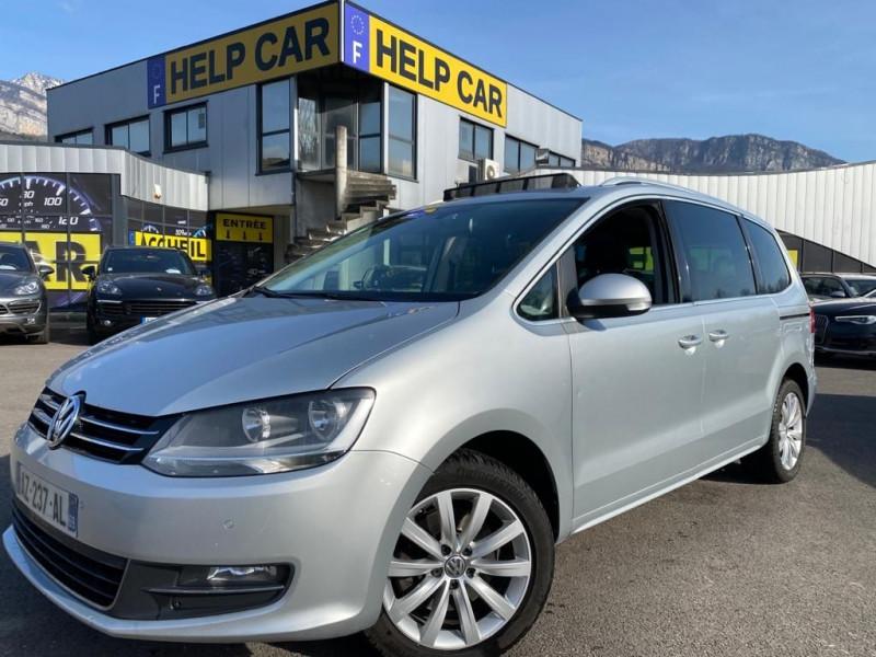 Volkswagen SHARAN 2.0 TDI 140CH BLUEMOTION FAP CARAT DSG6 Diesel GRIS Occasion à vendre