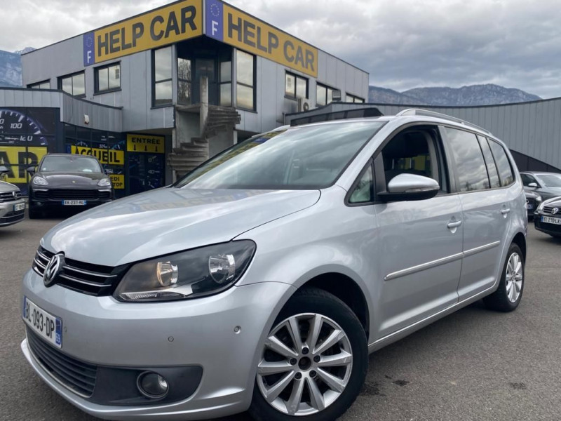 Volkswagen TOURAN 2.0 TDI 140CH FAP CARAT DSG6 7 PLACES Diesel GRIS C Occasion à vendre
