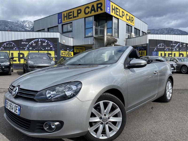 Volkswagen GOLF VI CABRIOLET 1.6 TDI 105CH FAP CARAT Diesel GRIS C Occasion à vendre
