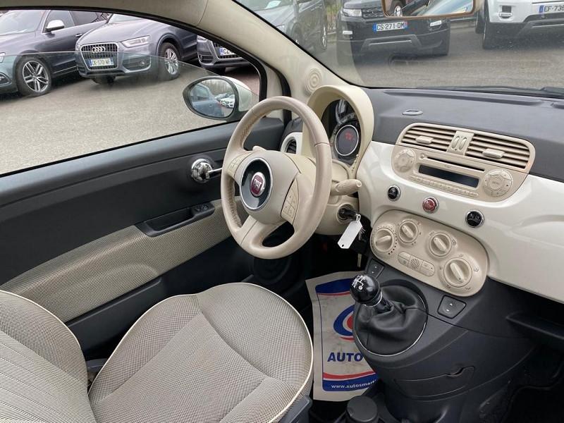Photo 4 de l'offre de FIAT 500 1.2 8V 69CH S&S LOUNGE à 6990€ chez Help car