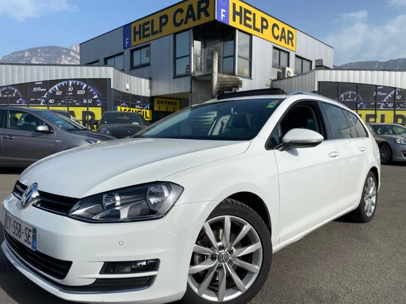 Volkswagen GOLF VII SW 2.0 TDI 150CH BLUEMOTION TECHNOLOGY FAP CARAT DSG6 Diesel BLANC Occasion à vendre