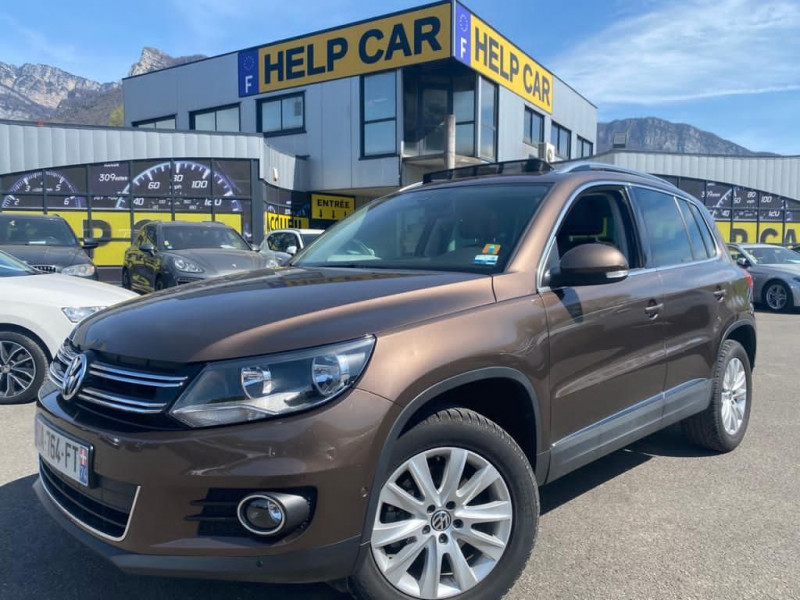 Volkswagen TIGUAN 2.0 TDI 140CH BLUEMOTION TECHNOLOGY FAP CARAT 4MOTION Diesel MARRON Occasion à vendre
