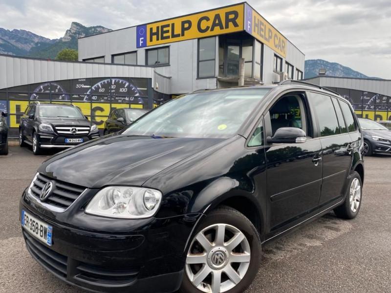 Volkswagen TOURAN 1.6 FSI 115CH CARAT 7 PLACES Essence NOIR Occasion à vendre