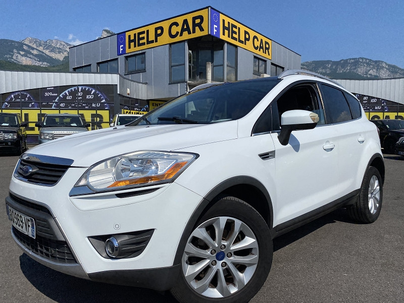Ford KUGA 2.0 TDCI 140CH FAP TITANIUM 4X2 Diesel BLANC Occasion à vendre