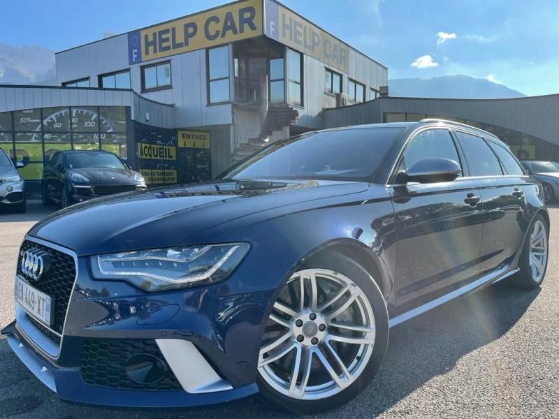 Audi RS6 AVANT 4.0 V8 TFSI 560CH QUATTRO TIPTRONIC Essence BLEU Occasion à vendre