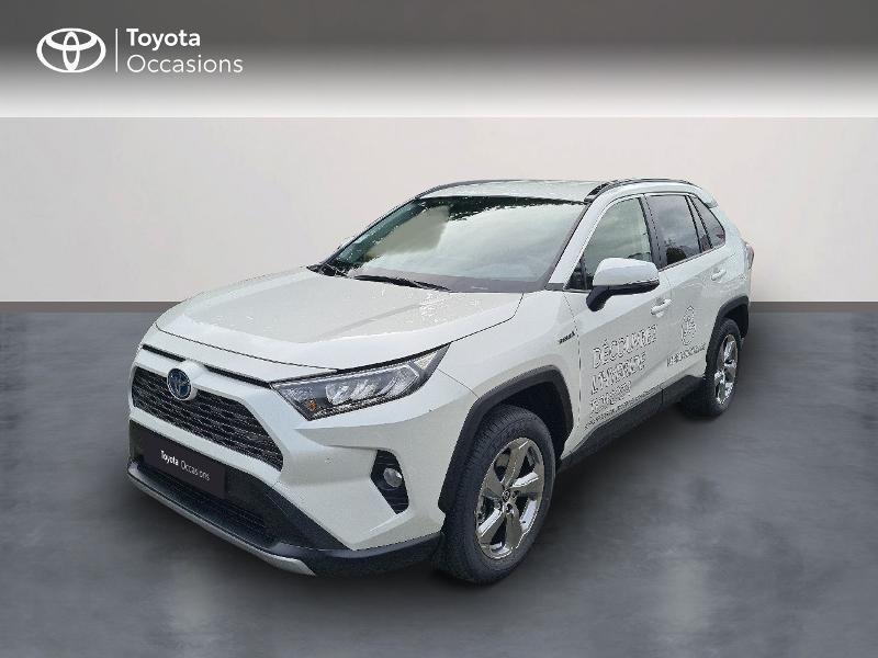 Toyota RAV4 Hybride 222ch Dynamic AWD-i MY21 Hybride Blanc Métal Occasion à vendre