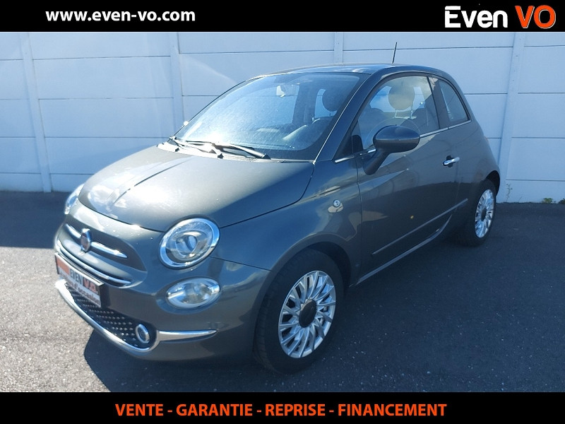 Fiat 500 1.2 8V 69CH ECO PACK LOUNGE Essence GRIS Occasion à vendre