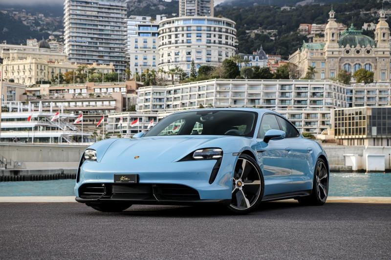 Porsche TAYCAN 761CH TURBO S Electrique BLEU GLACIER  Occasion à vendre