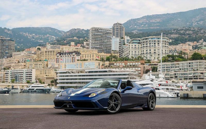 Ferrari 458 SPIDER V8 4.5 SPECIALE A Essence BLEU Occasion à vendre