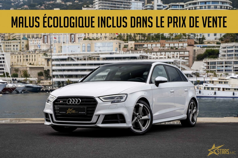 Audi S3 SPORTBACK 2.0 TFSI 310CH QUATTRO S TRONIC 7 Essence BLANC Occasion à vendre