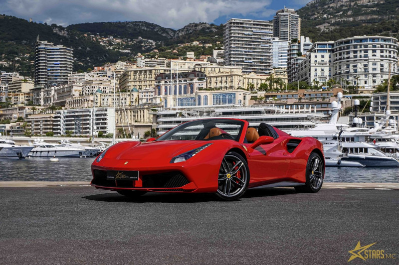 Photo 2 de l'offre de FERRARI 488 SPIDER V8 3.9 T 670CH à 239488€ chez Stars Monte Carlo