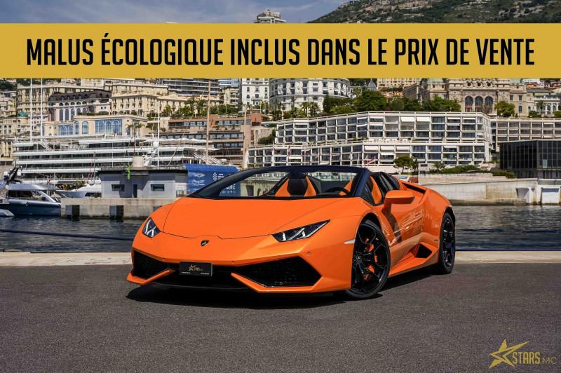 Photo 1 de l'offre de LAMBORGHINI HURACAN SPYDER LP 610-4 à 232900€ chez Stars Monte Carlo