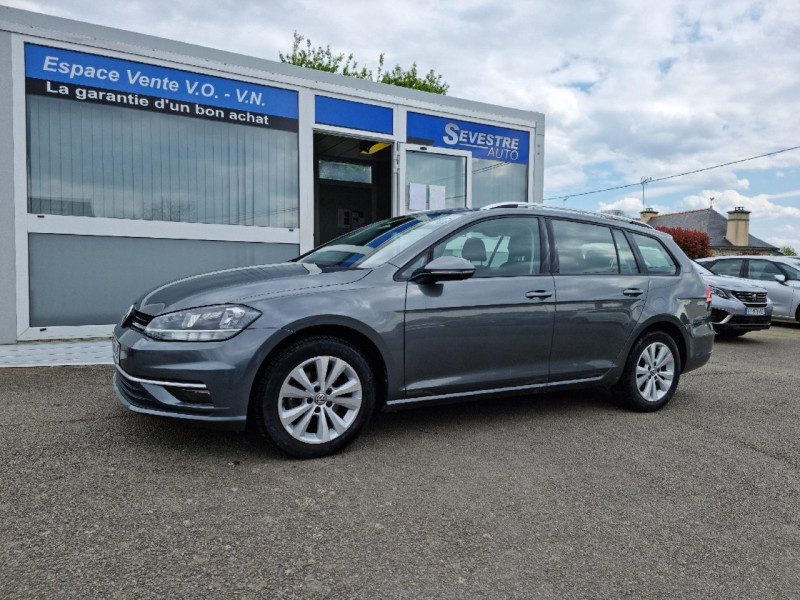 Volkswagen GOLF VII SW 1.6 TDI 115CH FAP BLUEMOTION TECHNOLOGY CONFORTLINE BUSINESS Diesel GRIS FONCE Occasion à vendre
