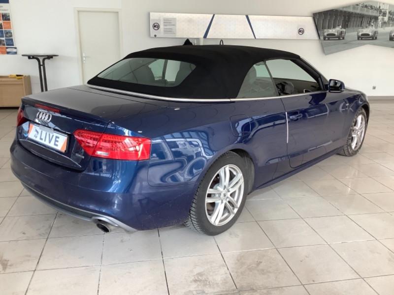 Audi A5 CABRIOLET 2.0 TFSI 230CH S LINE QUATTRO S TRONIC Essence BLEU Occasion à vendre