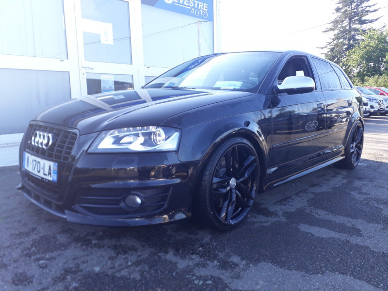 Audi S3 SPORTBACK 2.0 TFSI 265CH QUATTRO Essence NOIR Occasion à vendre