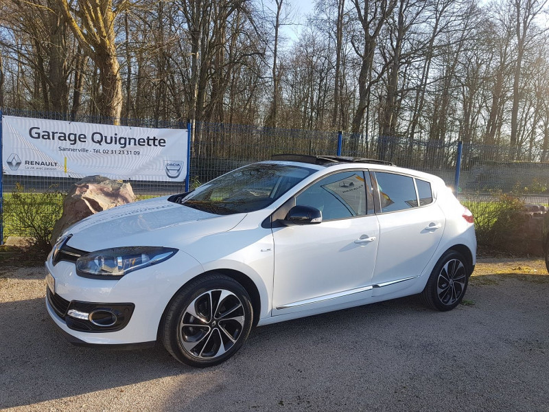 Renault MEGANE III 1.2 TCE 130CH BOSE EDC EURO6 2015 Essence BLANC Occasion à vendre