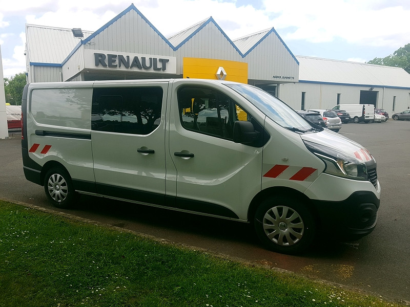 Renault TRAFIC III FG L2H1 1200 1.6 DCI 125 CH ENERGY CABINE APPROFONDIE GRAND CONFORT EURO6 Diesel BLANC Occasion à vendre